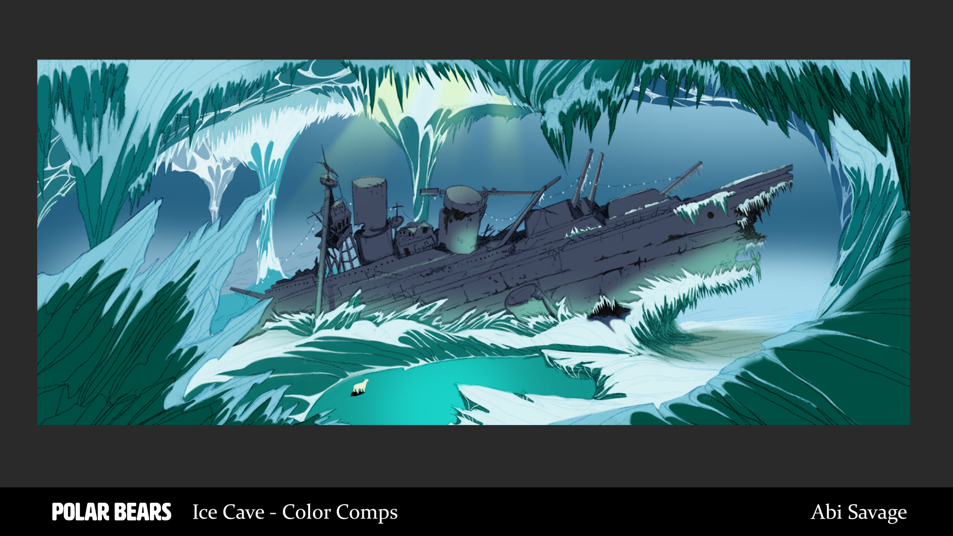 Ice Cave Final Painting