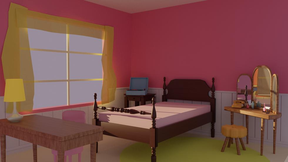 Morning in Dorothy's Room 3D blockmesh