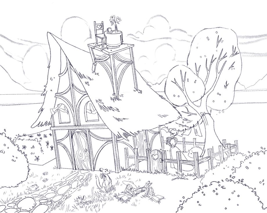 Lil Farmhouse sketch