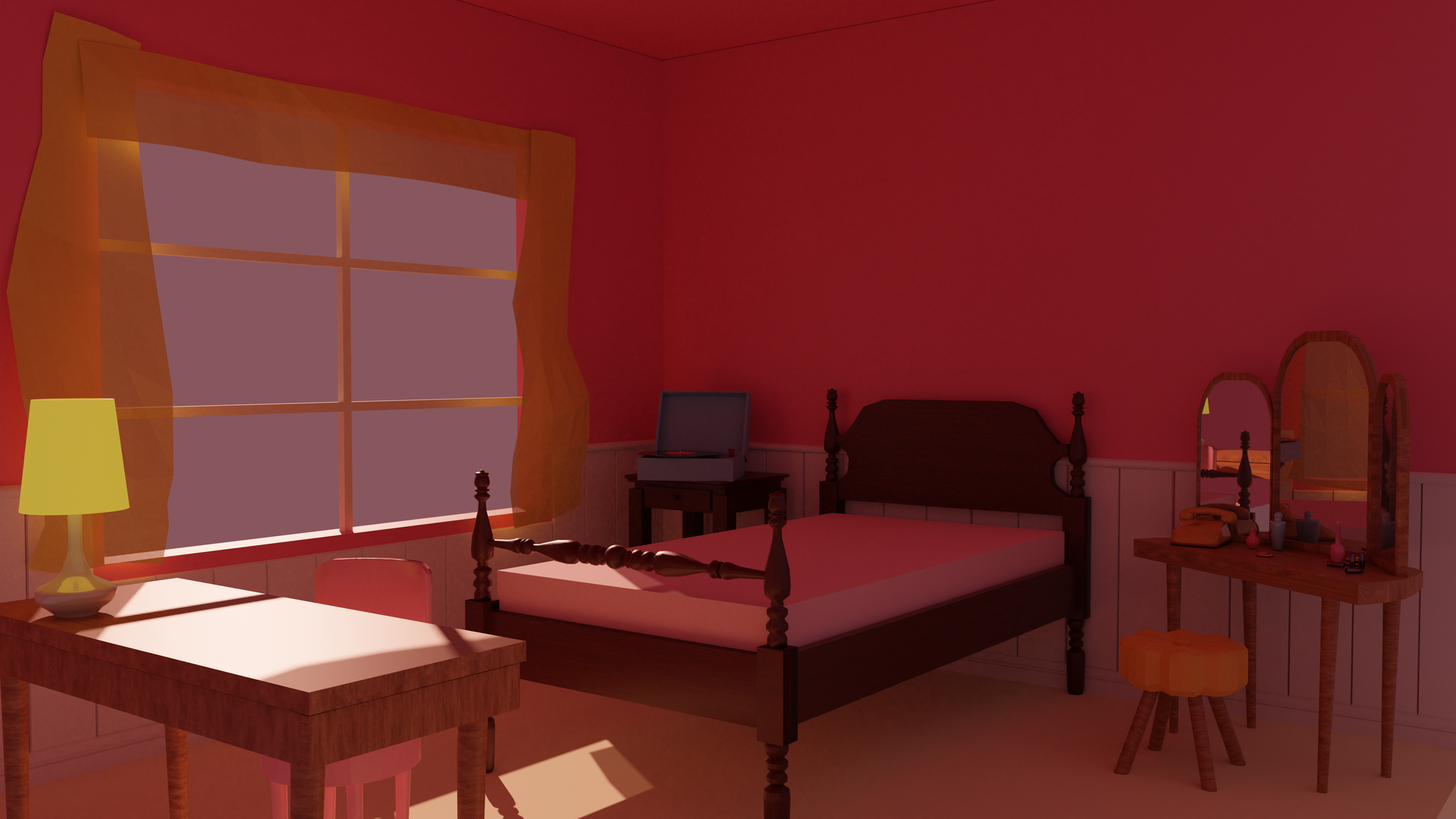 Evening in Dorothy's Room 3D blockmesh
