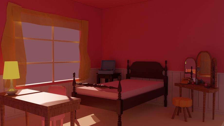 Evening in Dorothy's Room 3D blockmesh