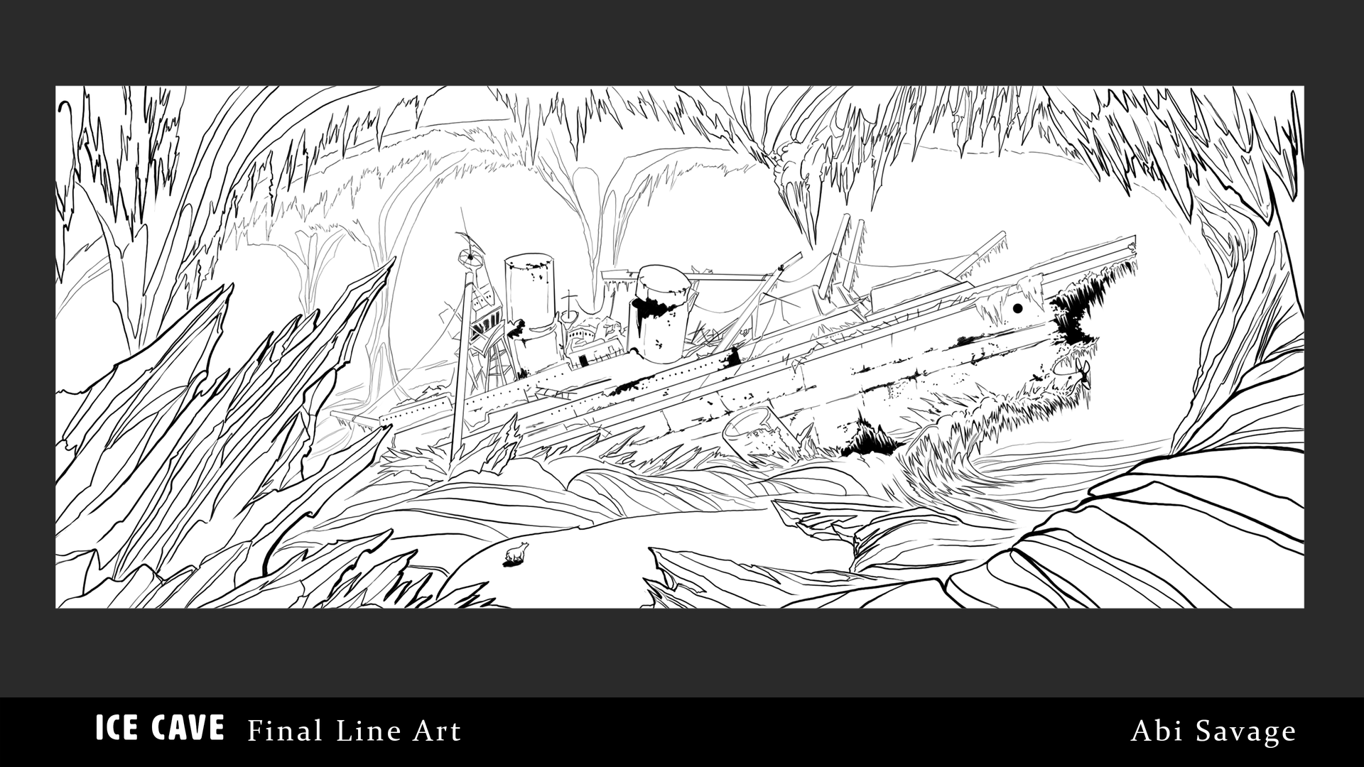 Ice Cave Final Line Art