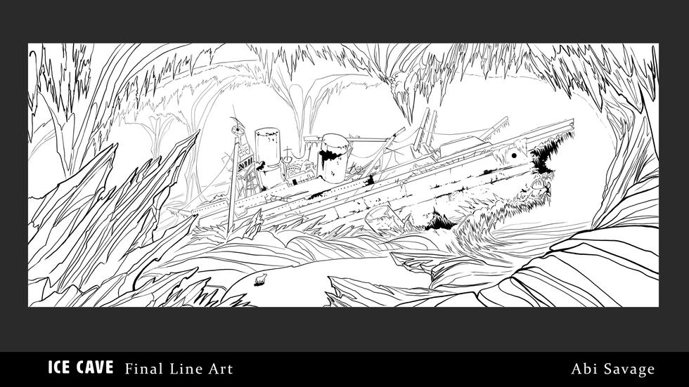 Ice Cave Final Line Art