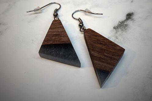 Hangers hout en grijs