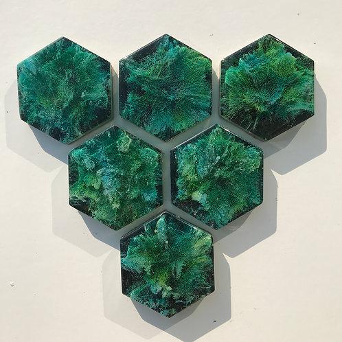 Onderzetters hexagon