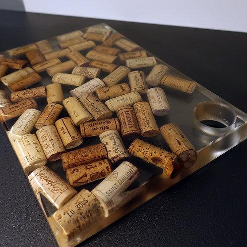 Wijnkurken dienblad