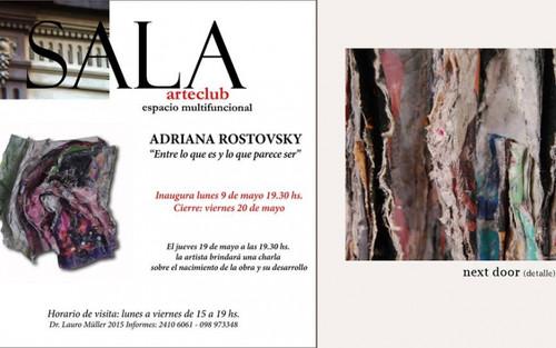 La artista Adriana Rostovsky retorna al Uruguay, luego de quince años en el Exterior