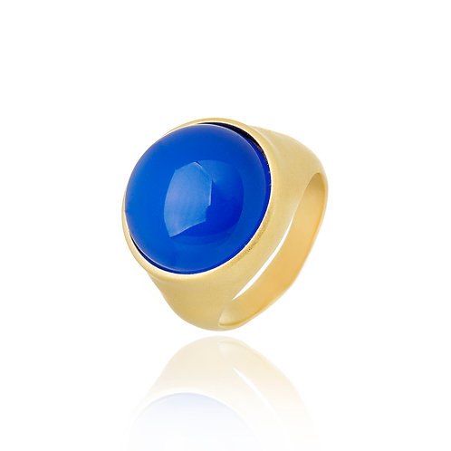 Anel Ágata Azul