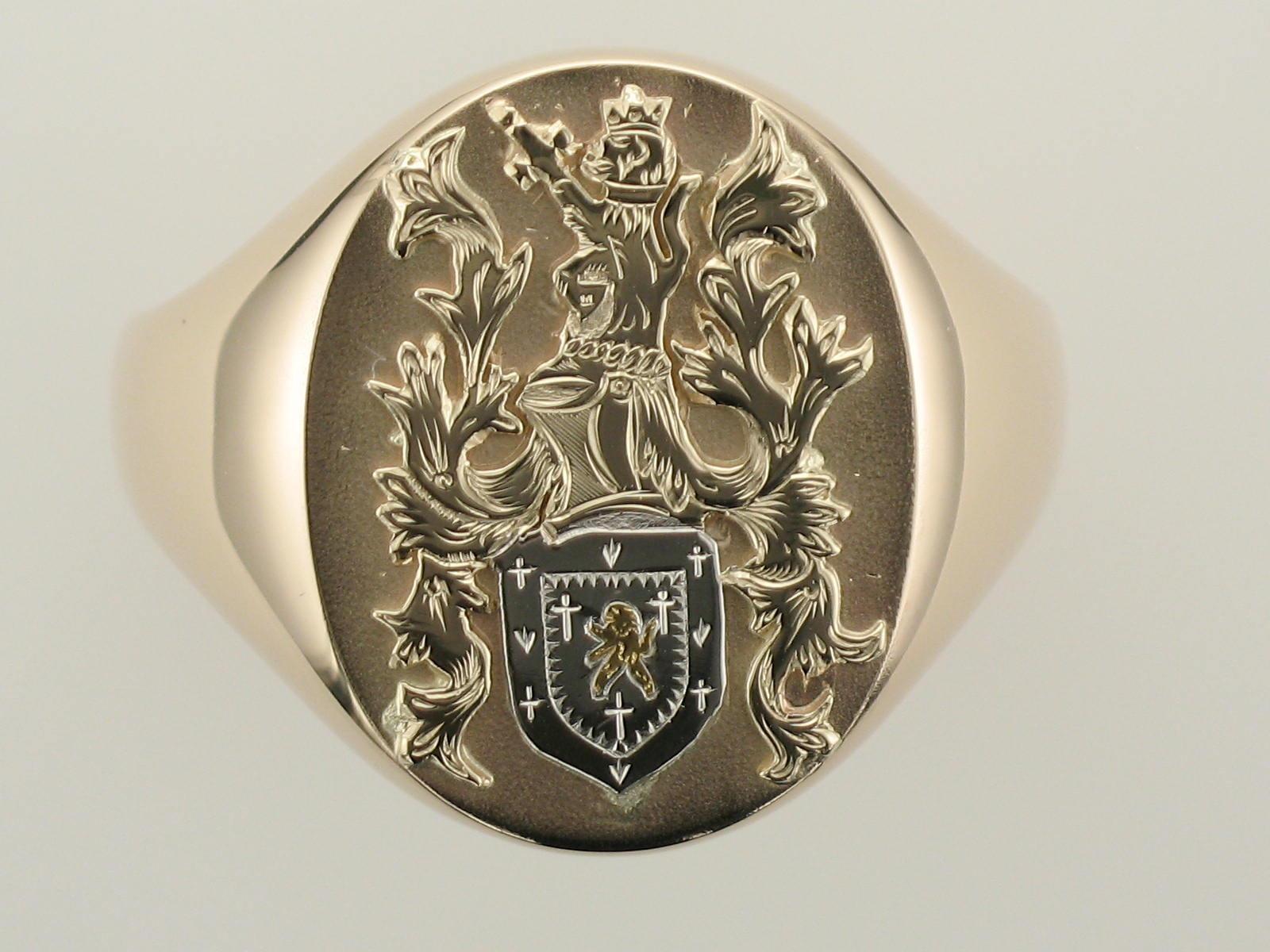 Mitch Crest Ring