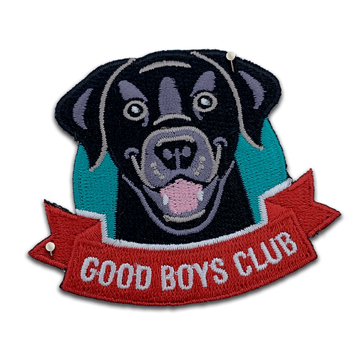 Good Boys Club Embroidered Dog Patch