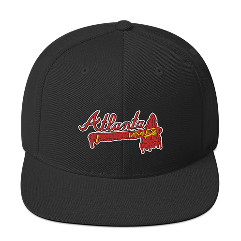 Atlanta Melting Tomahawk Embroidered Snapback Hat