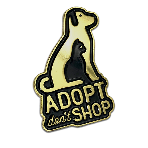 Adopt Don't Shop - Rescue Animal Pin