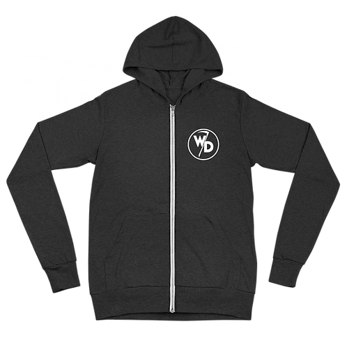 Whistle While You Lurk Grim Reaper Unisex zip hoodie