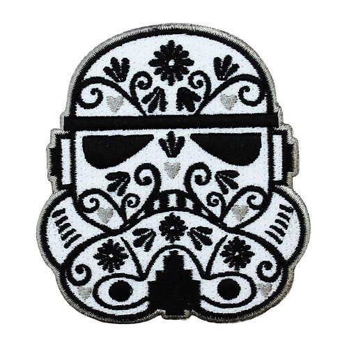 Storm Trooper Sugar Skull Patch