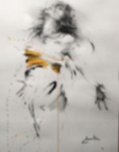 dance, ink on paper ewa hauton
