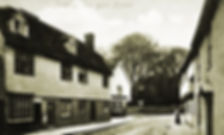 The Six Bells corner, on the left in the foreground the shop premises were a boot and shoe shop for many years and also the post office between 1874 and 1893.