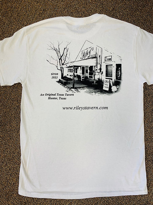 Riley's Building T-Shirt -White
