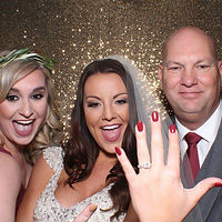 Look at this bride in one of our Lumina Photo Booths