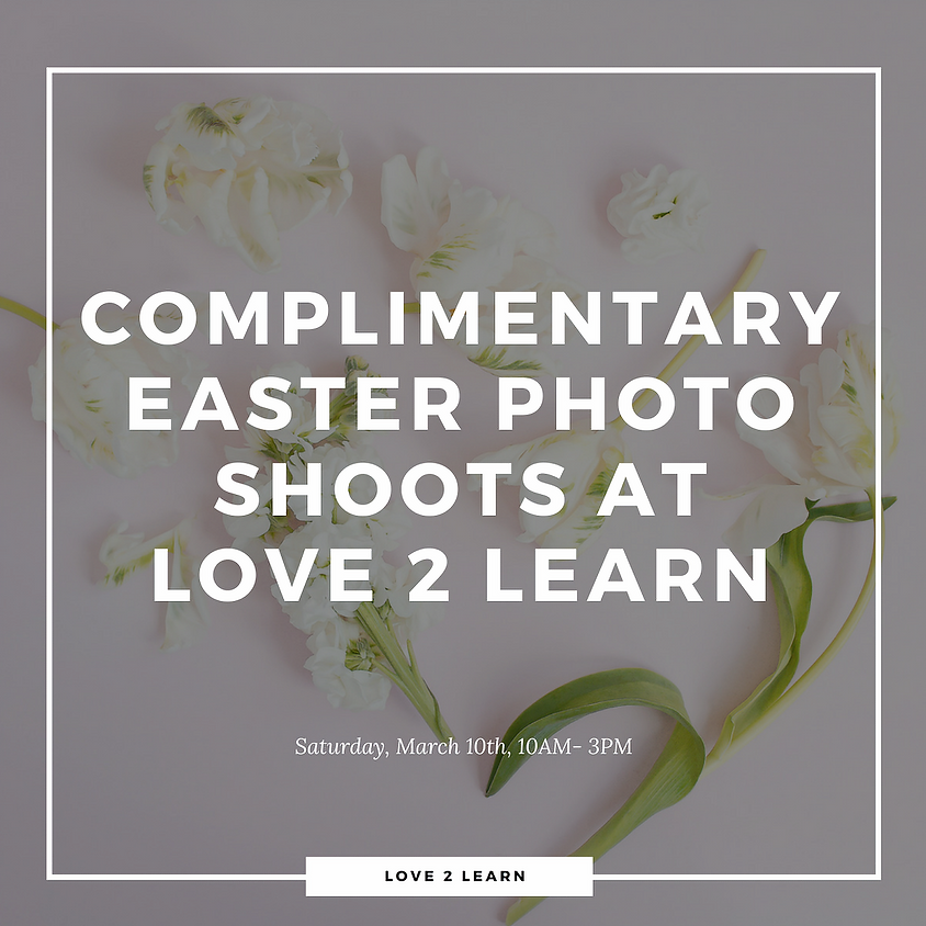 Complimentary Easter Photo Shoots by Photography by K