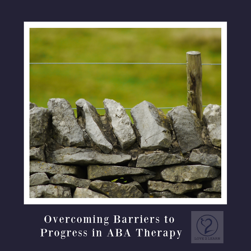 Parent Workshop | Overcoming Barriers to Progress in ABA Therapy