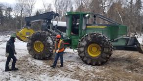 Nouvelle entreprise de récolte de bois mécanisé