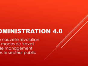 Colloque administration 4.0 - le 8 octobre / Charleroi