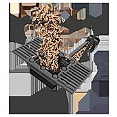 Sistema por afloracion calefaccion ecologico pellet leña biomasa hueso de aceituna policombustible multicombustible