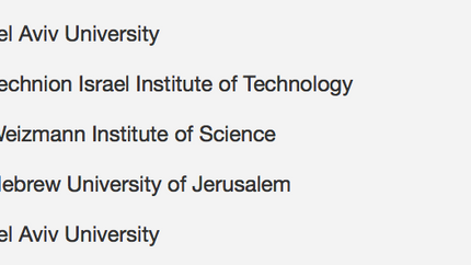 Top-30 Webometrics ranking in Israel