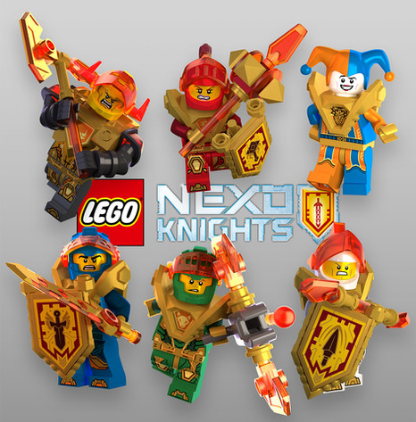 LEGO® Nexo Knights™ 3D Illustrations