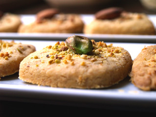 I sablé: con parmigiano e pistacchi