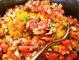 Quinoa con verdure e zafferano