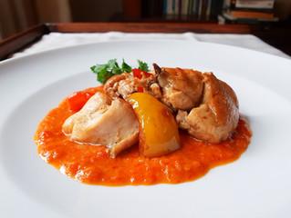 Pollo in crema di peperoni