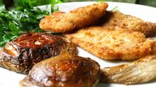 Cotolette di pollo con funghi porcini arrosto
