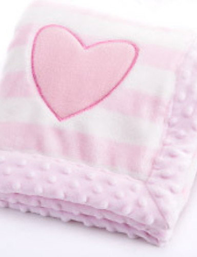 Infant Unisex Solid Colored Blanket Blue / Pink / Gray One-Size