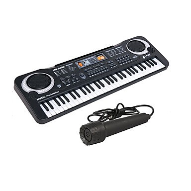 iPad/iPhone Compatible Electronic Keyboard w/ Microphone