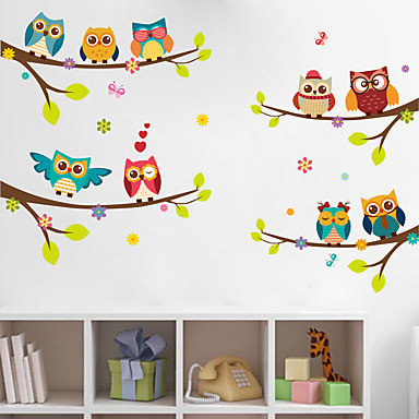 WOO Loves Owls Bedroom Wall Decor