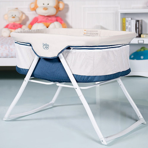 Portable Newborn Rocking Foldaway Baby Crib Bassinet