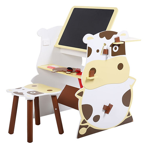 Kids Mutifunctional Drawing Board Creative Desk Set