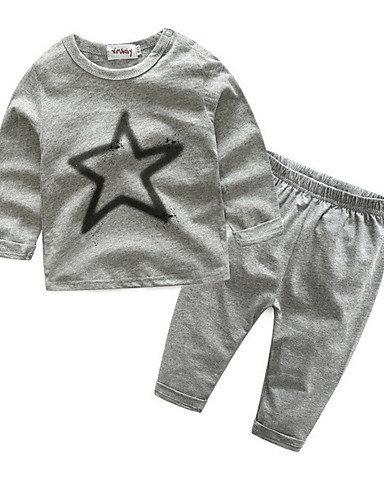 Baby Boys' Street chic Print Long Sleeve Regular Clothing Set Gray #07743410