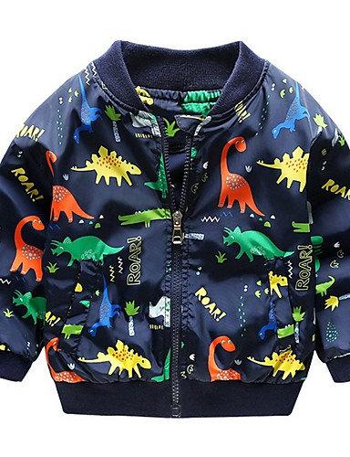 Kids Boys' Active Dinosaur Print Cotton Jacket & Coat White #07362886 (2)