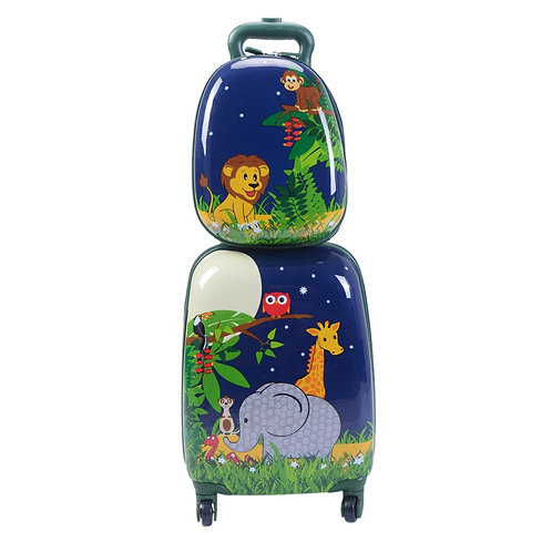 2 pcs Suitcase & Backpack Luggage Set