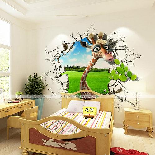 3D Giraffe Canvas Wall Decor