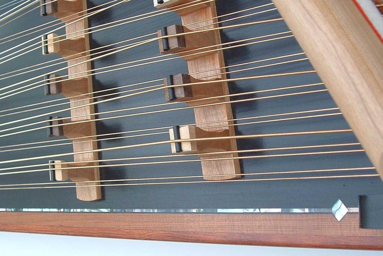 Forte black soundboard pearl inlay detai