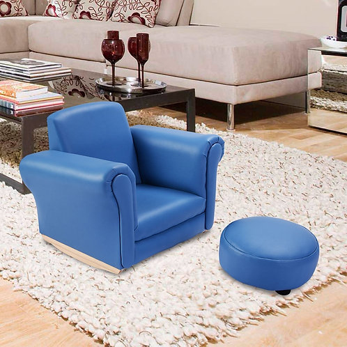 Kids Sofa Armrest Couch with A Footstool
