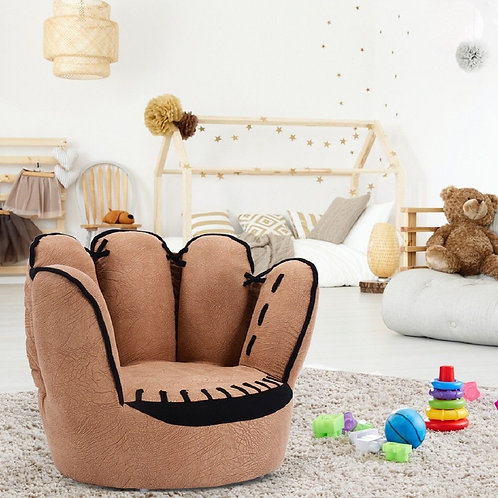 Five Fingers Baseball Glove Shaped Kids Sofa