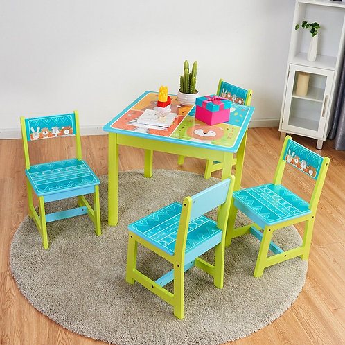 Cartoon Table & Chair Set