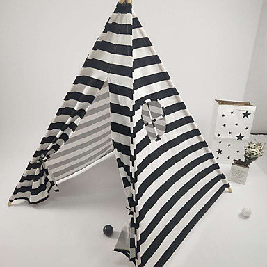 Contrast Stripes Bamboo Tent