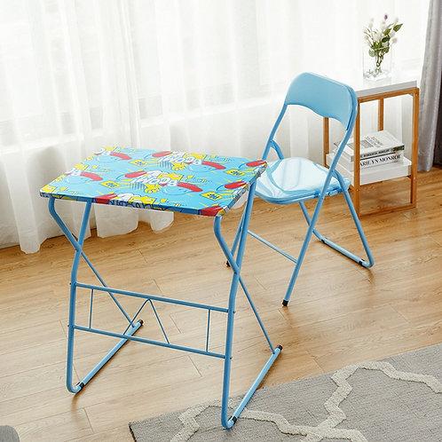 Home School Kids Study Writing Folding Table Chair Set