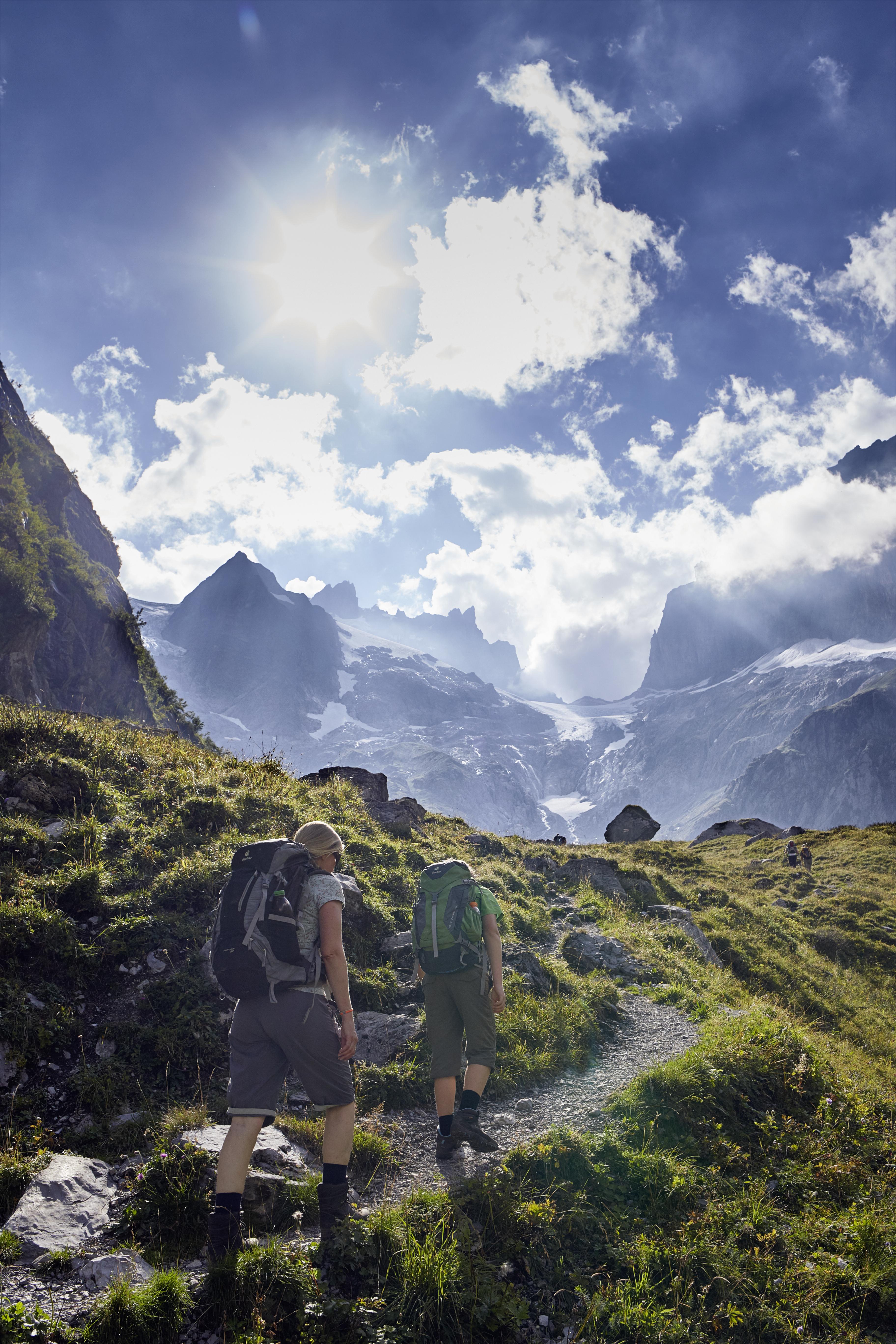 Aufstieg zur Kröntenhütte