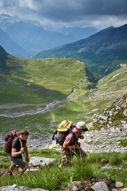 Aufstieg zur Adulahütte